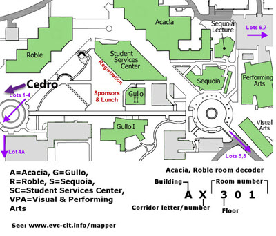 Evergreen Valley College Map Detail